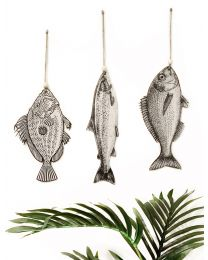Vintage Fish Wall Art Set
